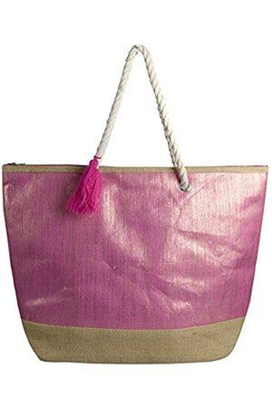 Peach Couture Damen Umhängetaschen - Große Reisetasche Hobo Handtaschen Schultertaschen Gold Weave, Pink