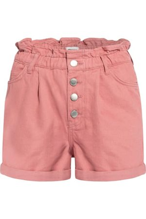 ONLY Damen Cropped - Jeans-Shorts rosa