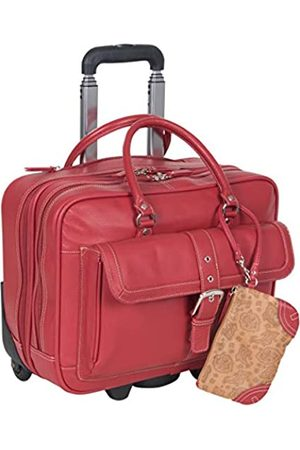 """Heritage Travelware Unisex-Erwachsene Heritage 'Lake View' Pebbled Leather 15.6"""" Laptop Wheeled Business Case Carry-On Aktentasche"""