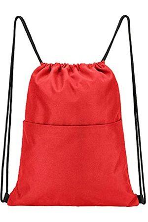Vorspack Sporttaschen - Rucksack mit Kordelzug, wasserabweisend, Kordelzug, Sportsack, Turnbeutel mit Seitentasche für Damen und Herren, Unisex-Erwachsene, Gep�ck- Handgep�ck