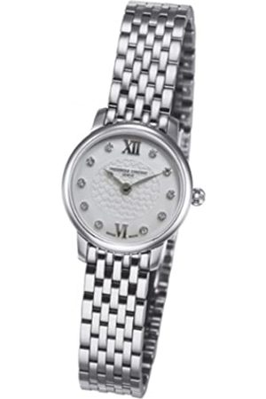 Frederique Constant Damen Uhren - Damen-Armbanduhr XS Slimline Mini Analog Quarz Edelstahl FC-200WHDS6B