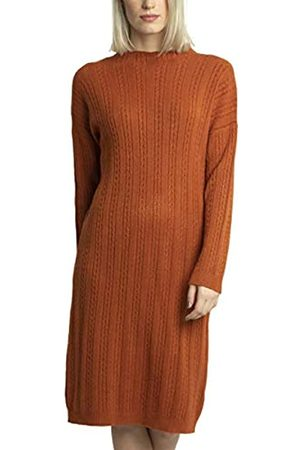 Apart APART wärmendes Damen Kleid, Strickkleid, Kaschmir-Anteil, Zopfmuster-Längsstreifen, überschnittene Ärmel, Kleiner Gehschlitz, schönes Basic