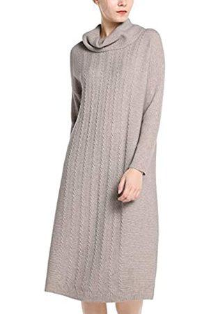 Apart APART stylishes Damen Kleid, Strickkleid, Schlupfkleid, Kaschmir-Anteil, vorn mit Zopfmuster, lockere Bequeme Form