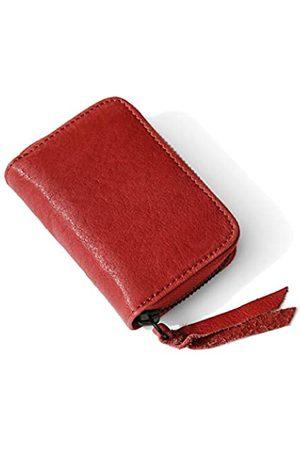 Shechane Kreditkartenetui mit Reißverschluss, Echtleder, Kreditkartenschutz