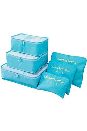 M-jump 6 Set Reise-Aufbewahrungstaschen Multifunktionale Kleidung Sortieren Pakete Reise Verpackung Kompression Tasche Gepäck Organizer Tasche (blau) - 738920566275