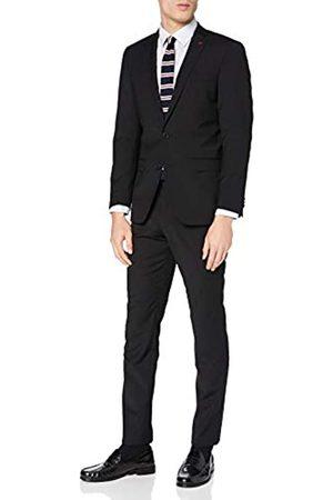Roy Robson Herren Anzüge - Herren Anzug Slim Fit 2-teilig aus Schurwoll Mix Business Stretch Abendanzug - Set