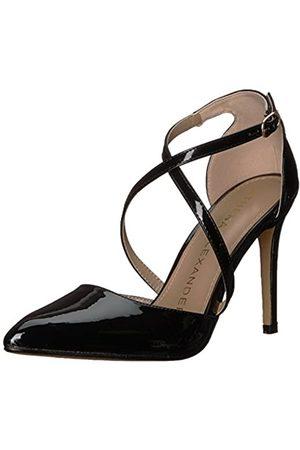 ATHENA Monett Damen-Sandalen, Schwarz (schwarzer Lack)