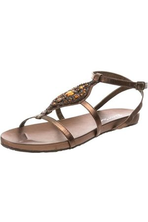 2 Lips Too Too Glamour Damen Sandalen mit Knöchelriemen, Braun (Bronze)