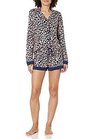 Cosabella Damen Bella Printed Long Sleeve Top & Boxer Pajama Pyjama Set