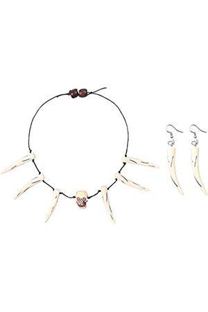 KEPATO Unisex Totenkopf Halskette Ohrringe Halloween Dekoration Anhänger