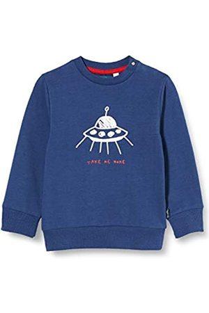 Sanetta Baby-Jungen Neptun 38108: Rotes 50072: Dunkelblaues Sweatshirt mit abgefahrenem UFO-Print Kidswear