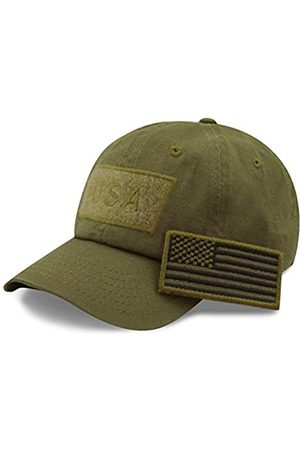 The Hat Depot Baumwolle & Pigment Low Profile Tactical Operator USA Flag Patch Military Army Cap - Grün - Einheitsgröße