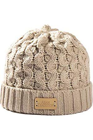 Aran Traditions Aran Beanie-Mütze mit Zopfmuster (groß)