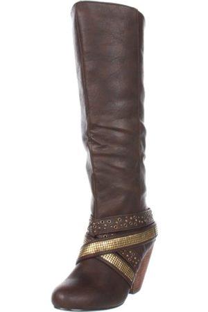 Not Rated Damen Avalon Kniehohe Stiefel, Braun (schokoladenbraun)