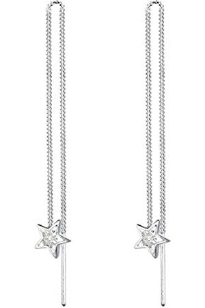 Elli Ohrringe Damen Sterne Astro mit Kristalle in 925 Sterling Silber