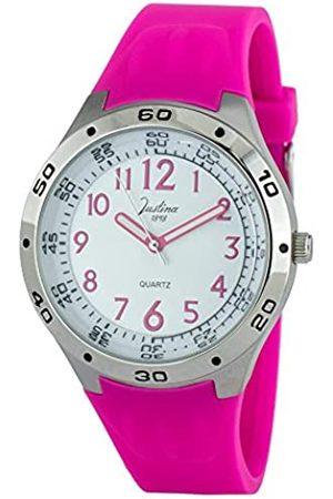 JUSTINA Analog Quarz Uhr mit Gummi Armband JCR45