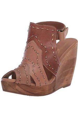 Very Volatile Damen Scandia Keilabsatz-Sandale, Tan/Multi