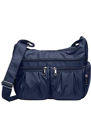 VOLGANIK ROCK Crossbody Geldbörsen für Frauen RFID Schulterhandtaschen Wasserdicht Nylon Reisetasche Pocketbooks, (dunkelblau)