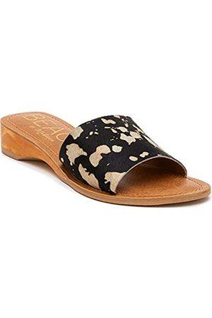 Matisse Havana Damen Sandalen mit niedrigem Keilabsatz, (Schwarzer Cowspot/Rindsleder)