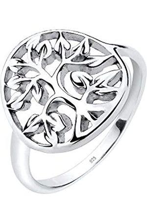 Elli Ring Damen mit Lebensbaum Symbol Floral in 925 Sterling
