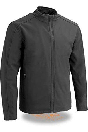 Milwaukee Leather Herren MPM1763-BLACK-XL Wasserdichte, leichte Softshell-Jacke mit Reißverschluss vorne