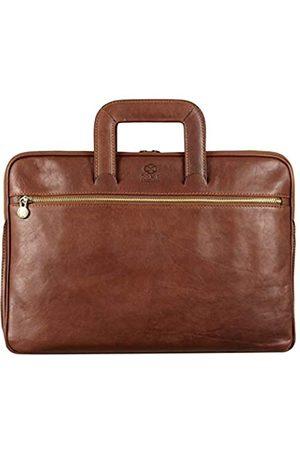 Time Resistance Herren 13 in Leder Laptoptasche Arbeitstasche Bürotasche Ledertasche Aktentasche Umhängetasche Lehrertasche Businesstasche