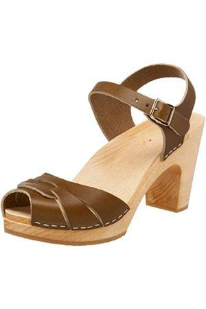 Swedish Hasbeens Damen 432 Sandale,Olive