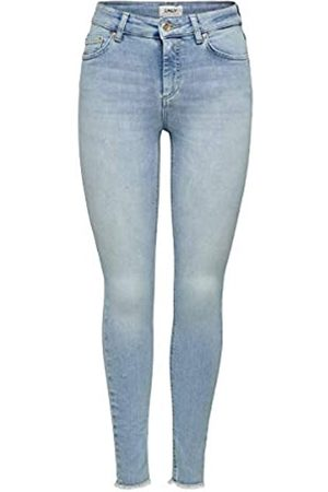 ONLY Damen Onlblush Mid Ank Raw Jns Rea306 Noos Skinny Jeans