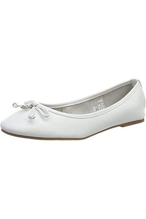TOM TAILOR Damen 4894301 Geschlossene Ballerinas, (White)