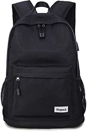 Mupack Anti Diebstahl Rucksack Herren Laptop Business Rucksack Trolley Reiserucksack mit USB Anschluss bis zu 13-15
