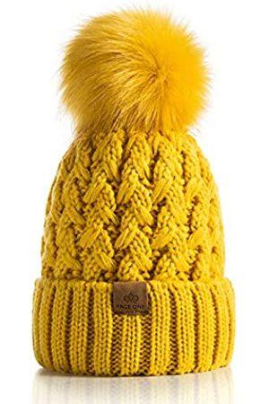 PAGE ONE Damen Wintermütze, gerippt, mit Zopfmuster, weich