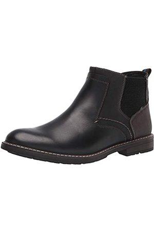 Nunn Bush Herren Fuse Plain Toe Boot with Easy Pull ON Elastic Panels Chelsea-Stiefel