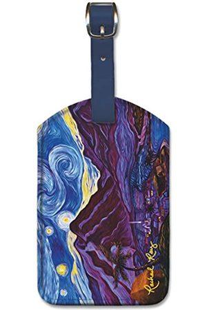 Pacifica Island Art R.fRay Gepäckanhänger aus Kunstleder – Maui Starry Night