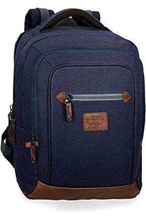 Pepe Jeans Arblay Laptop-Rucksack mit Doppelfach 31x44x15 cms Baumwolle 15