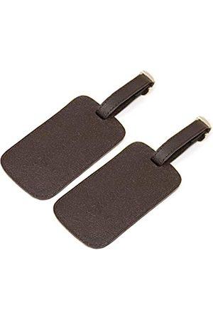 Logical Leather Gepäckanhänger aus echtem Leder mit verstellbarem Lederband