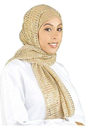 SAFIYA Hijab Kopftuch Halstuch für Damen I Hell Kopfbedeckung 66 x 180 cm I Glänzender Schal für die Feiertage I Muslim Gesichtsschleier, Haartuch, Pashmina