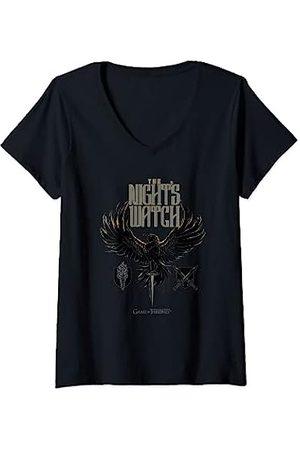 Game of Thrones Damen The Night's Watch T-Shirt mit V-Ausschnitt