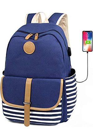 FLYMEI Canvas Laptop Bag Cute Schulrucksack College Bookbag Schulter Daypack Casual Reisetaschen für Teen Mädchen und Frauen