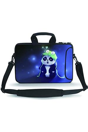 RUYIDAY 11 11.6 12 12.5 13 inches Case Laptop/Chromebook/Ultrabook/MacBook pro air Notebook PC Messenger Bag Tablet Travel Case Neoprene Handle Sleeve with Shoulder(Cute Panda)