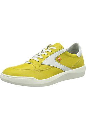 softinos Damen BLON631SOF Sneaker, Bright Yellow/White