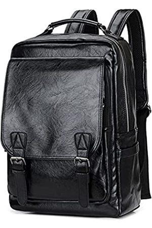 WEECOC Leder-Rucksack, lässiger Tagesrucksack für Herren, Laptoptasche, Schulranzen
