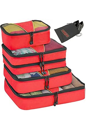 Valyne Packing Cubes 4-teiliges Set Gepäck-Organizer-Taschen mit gratis Schuhbeutel