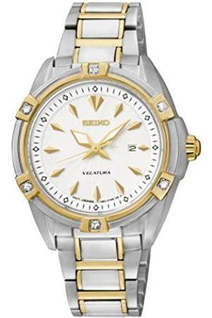 Seiko Damen Analog Quarz Uhr mit Edelstahl Armband SXDF50P1