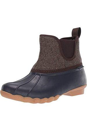 Skechers Damen POND - Mid Herringbone Chelsea Duck Boot with Waterproof Outsole Regenstiefel, Marineblau/