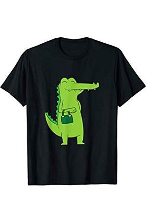 Lustige Krokodil Und Alligator Geschenke Krokodil Mit Handtasche Lustiger Alligator T-Shirt