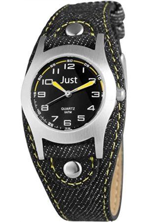 Just Watches Unisex-Armbanduhr Analog Quarz Textil 48-S0010-BK-YL