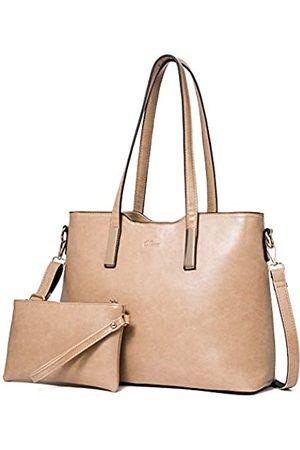 CLUCI Handtasche Damen Gross Tasche Shopper für Damen PU Leder Tote Groß Mode Frauen Schultertasche Businesstasche Reisetasche mit Innentasche Taschen Set
