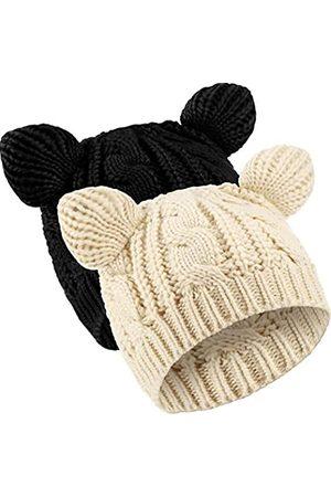 SATINIOR Katzen Ohr Mütze Hut Süße Katze Strickmütze Winter Strickmütze für Damen Mädchen ( und