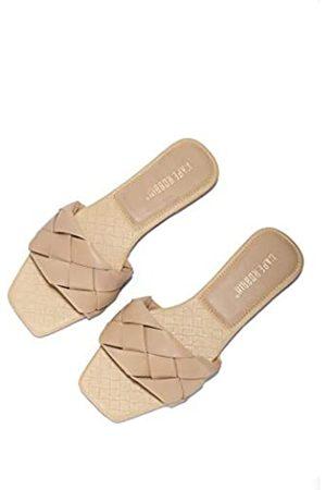 Cape Robbin Deja Sandalen Slides für Damen, gewebte Damenpantoletten, Schlupfschuhe, (nude)