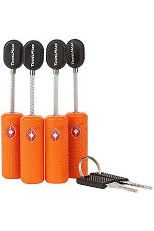 TravelMore 4 TSA-genehmigte Kofferschlösser USA Gepäckschlösser mit Schlüsseln TSA-Schloss Reiseschloss für Flugreisen - kleines Koffer-Schloss TSA - Flexibel Ultra-Sicher & Metall-Zink-Legierung